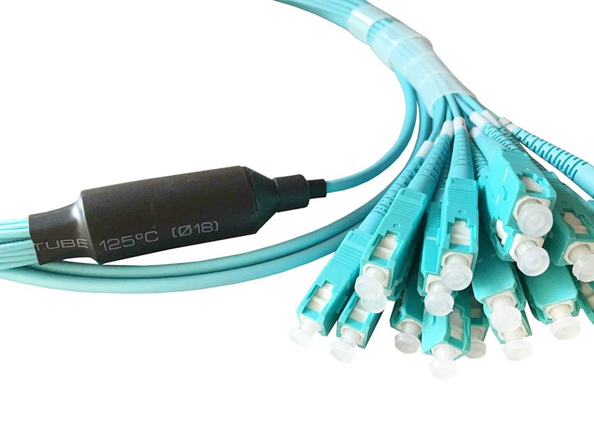 pre-terminated breakout fiber patch cable OM3