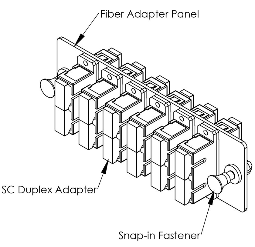Compact SC-SC Fiber Optic Adapter Panel 12 Port