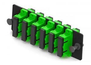 110 style SC 12 Fiber adapter panel