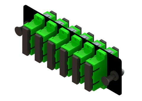 Compact SC-SC Fiber Optic Adapter Panel 12 Port