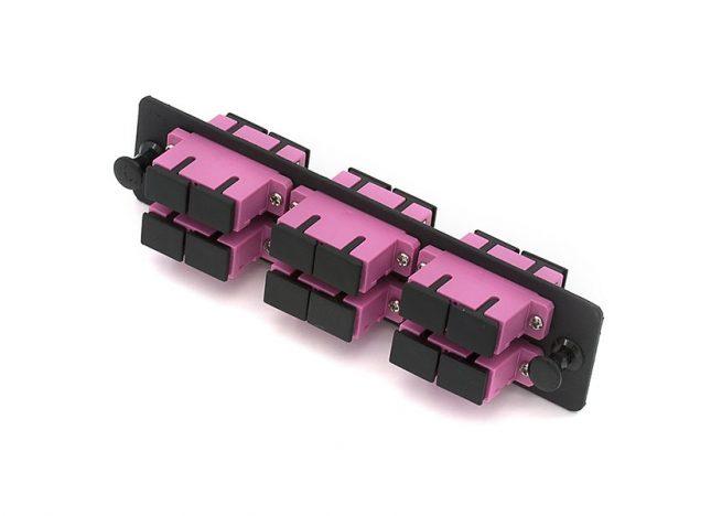 12 Port Fiber Adapter Panel SC OM4