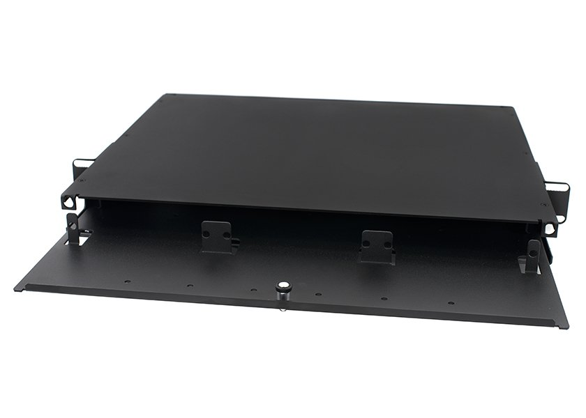 1U 3-Panel Rack Mount Fiber Enclosure Slide-out, Unloaded