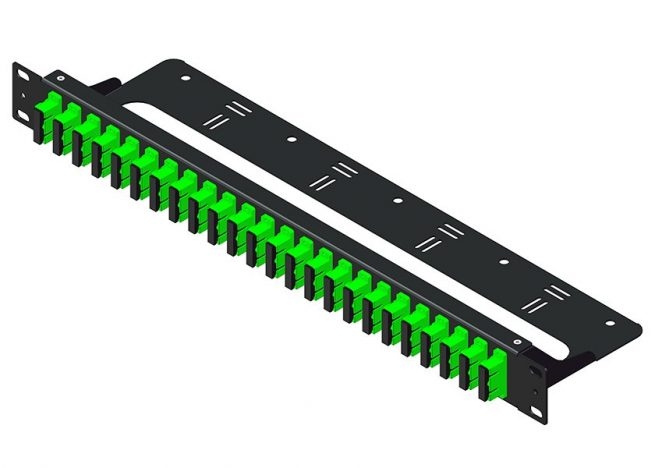 1U Rack Mount Fiber Optic Patch Panel SC 48 Port, with Cable Management
