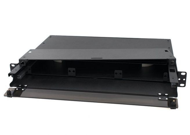 1U Rack Mount LGX Fiber Patch Panel, 3 Adapter Panel Type