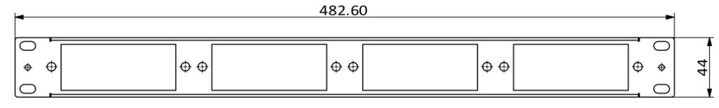 1U rack mount panel 4 slot dimension