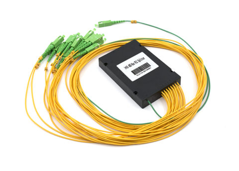 1x16 PLC Fiber Splitter with SC/APC Connectors, ABS Box Type