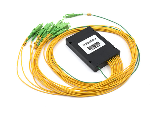 1x16 PLC Fiber Splitter with SC/APC Connectors, ABS Box Type
