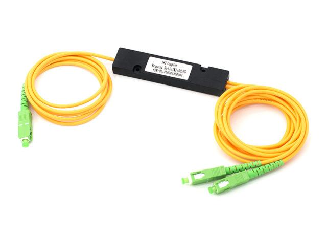 1x2 Single Mode Fused Fiber Optic Coupler, ABS Box FBT Fiber Splitter