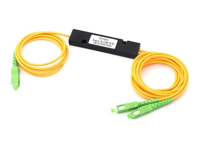 1x2 Single Mode Fused Fiber Optic Coupler, ABS Box FBT Fiber Splitter