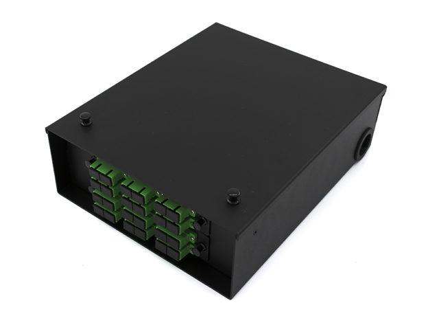 2 Panel Wall Mount Fiber Enclosure / Box 24 Port