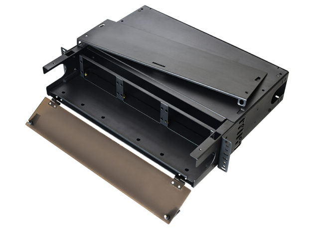 2U LGX Fiber Patch Panel, Rack Mount Enclosure