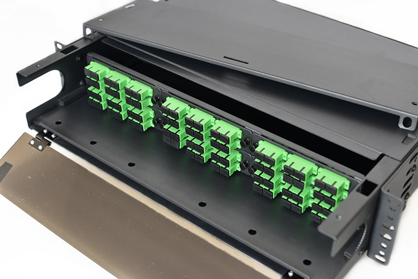 2U rack mount fiber optic patch panel, fiber enclosure, distribution box, LIU
