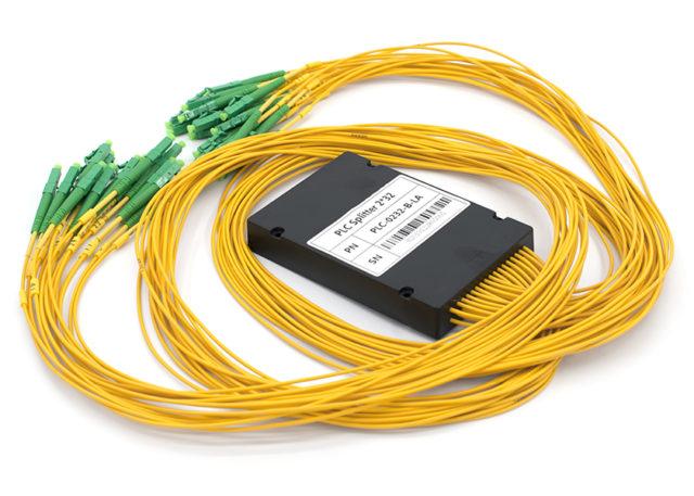 2x32 PLC Splitter, LC/APC Connectors, ABS Box Package