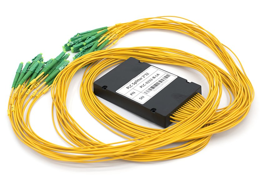 2x32 PLC Splitter, LC/APC Connectors, ABS Box Package