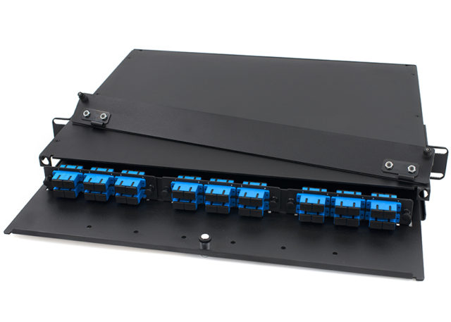 1U Rack Mount Fiber Enclosure SC 36 Port, 3 LGX Adapter Panel