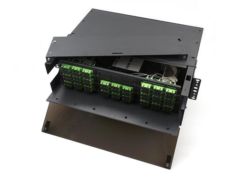 3U Rack Mount Fiber Enclosure, 9 LGX Adapter Panels