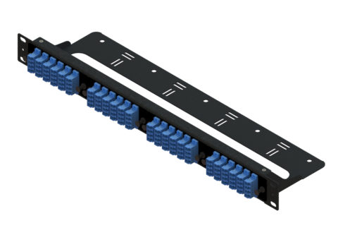 LC Fiber Patch Panel 96 Port, Rack Mount, 1U