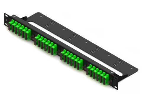 4-panel straight-through fiber patch panel
