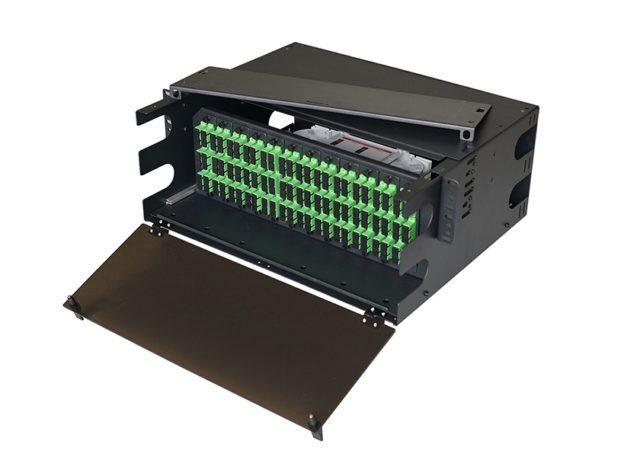LGX Compatible 4U Fiber Patch Panel, Rack Mount Enclosure, Fiber Distribution Panel, Termination Box