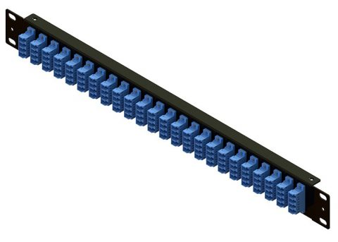 LC Fiber Patch Panel 1U, Rack Mount, 96 Port
