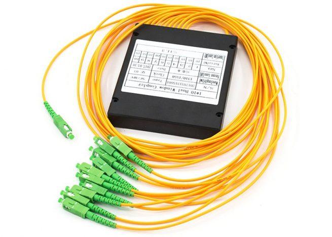 Fused Fiber Optic Coupler, ABS Box Type Single Mode SC/APC Connectors
