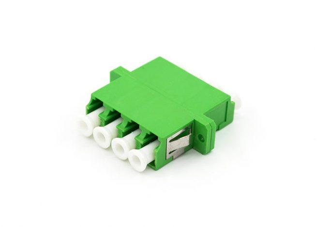 LC/APC Quad Adapter, Single-mode Fiber Optic Coupler
