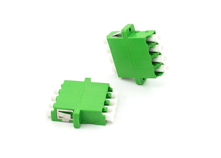LC - LC APC Quad Fiber Adapter Single Mode, SC Duplex Mounted