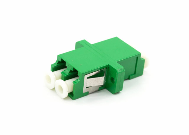 LC APC Fiber Optic Adapter Duplex, SC Footprint