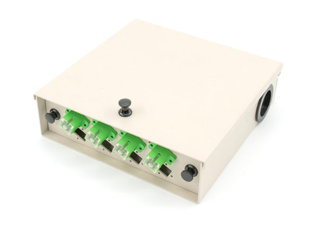 Small Wall Mount Fiber Termination Box 8 Port outlet box, distribution panel