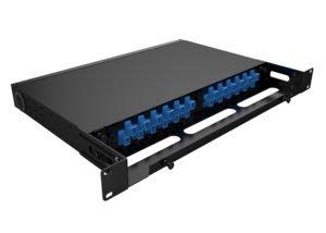 Fixed Rack Mount Fiber Enclosure 1U FRME-1U2P, patch panel, LIU
