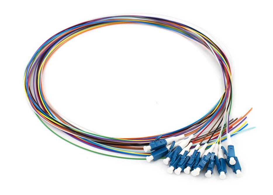 12 Fiber LC Pigtail, Single-mode / Multimode