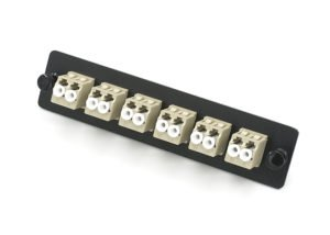 LC Fiber Adapter Panel 12 Port Multimode, Snap Mount Adapters