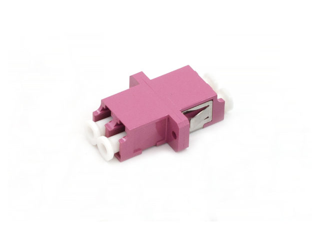 LC Fiber Optic Adapter, OM4, Duplex Coupler, SC Type