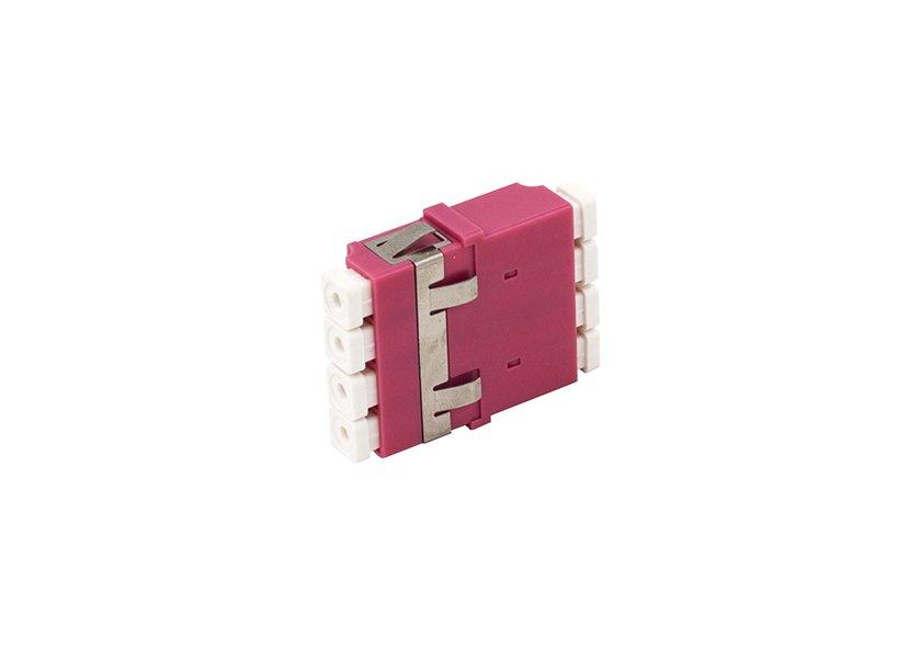 LC OM4 quad fiber optic adapter, anti-shake