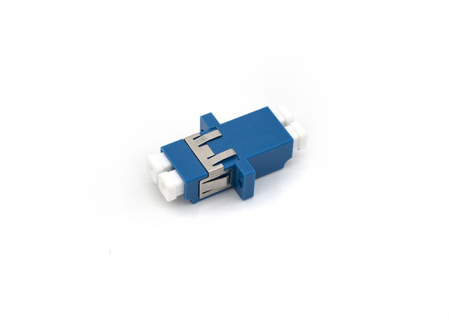 LC Single Mode Fiber Optic Adapter Duplex with Anti-shake Clip