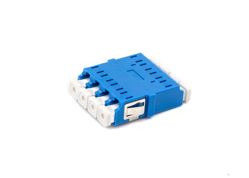LC SM Quad Fiber Adapter / Coupler, Anti-shake Clip