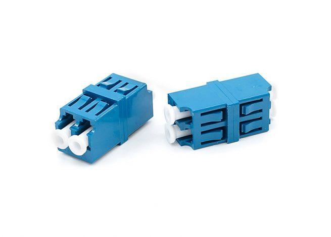 Snap Mount LC Duplex Fiber Optic Adapter, Single Mode