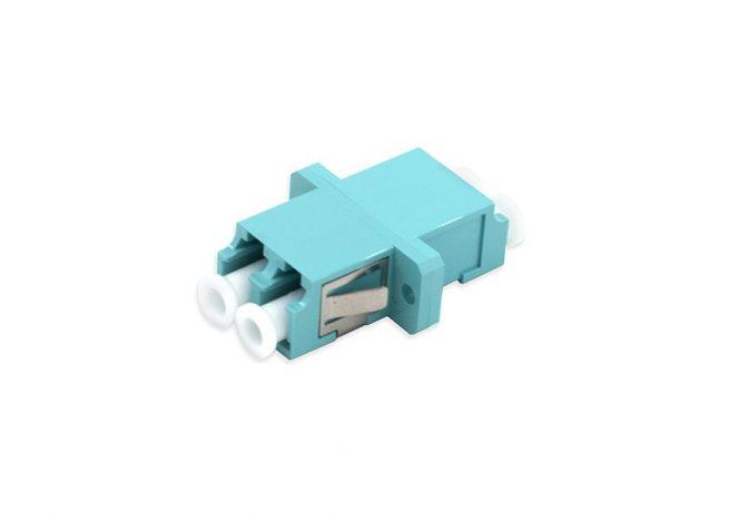 LC Fiber Optic Adapter, OM3, Duplex Coupler, SC Type