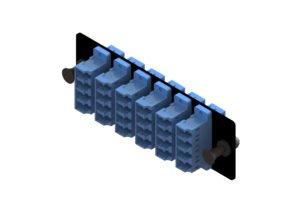 LC fiber adapter panel 24 port, 110 type