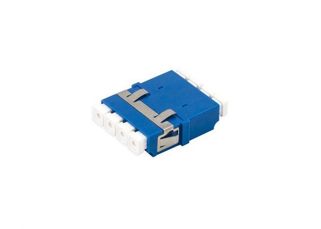 LC SM Quad Fiber Adapter, optical Coupler, Anti-shake Clip