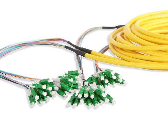 Pre-terminated LC to LC Fiber Patch Cable 12 Strand