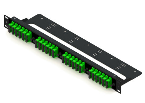 Fiber Patch Panel Rack Mount, 1U, SC 48 Port