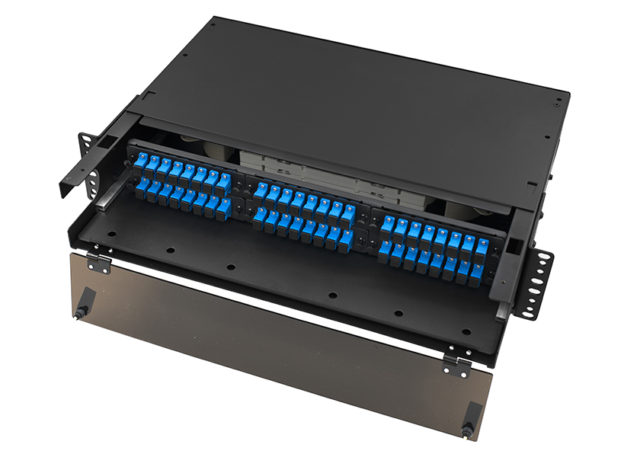 2U LGX Fiber Patch Panel SC 48 Port, Rack Mount Fiber Enclosure