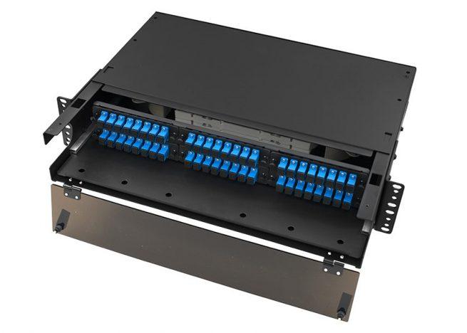 2U LGX Fiber Patch Panel SC 48 Port, Rack Mount Fiber Enclosure