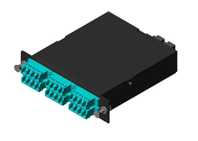 MPO / MTP to LC Fiber Cassette Module OM3 24 Port, LGX