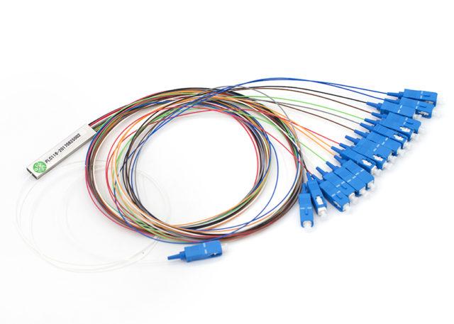PLC Splitter 1x16, SC/UPC Connectors, Steel Tube Type