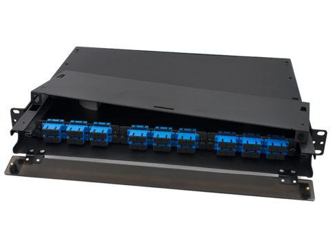 Rack Mount Fiber Enclosure 1U, SC 36 Port, 3 LGX Adapter Panel