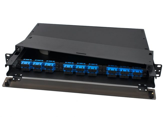 Rack Mount Fiber Enclosure 1U, SC 36 Port, 3 LGX Adapter Panel