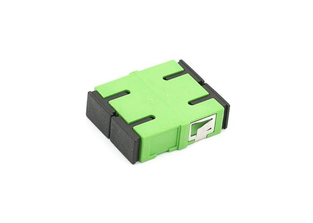SC / APC Duplex Fiber Adapter, Short Flange fiber coupler