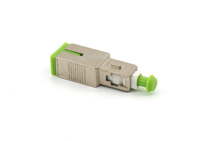 SC/APC Fiber Attenuator, Single-mode, Male to Female, 1dB, 3dB, 5dB, 7dB, 10dB, 15dB, 20dB